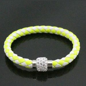 Jewelry - Yellow and White Rhinestone Magnetic Bracelet